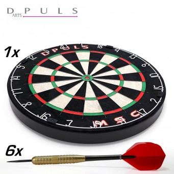 Dpuls MSC Blade Wire Bristle Dartboard & 2 Darts Set Marcel Scorpion